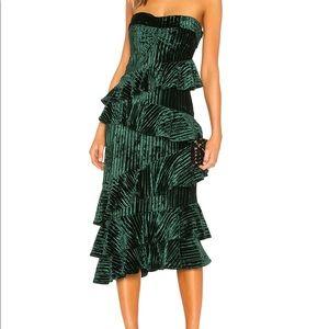 GORGEOUS green velvet dress